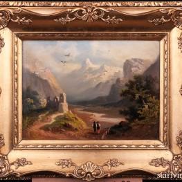 Долина Рейна возле Рагац, пейзаж 1900 г