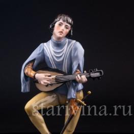Фарфорвая статуэтка Менестрель, Alka Kaiser, Германия, сер. 20 в.
