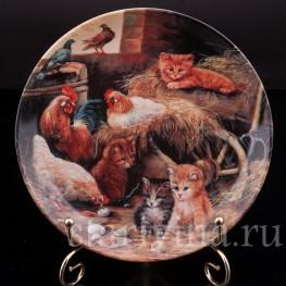 Декоративная фарфоровая тарелка Маленькие смотрители, Seltmann Weiden, Германия, 1993 г.